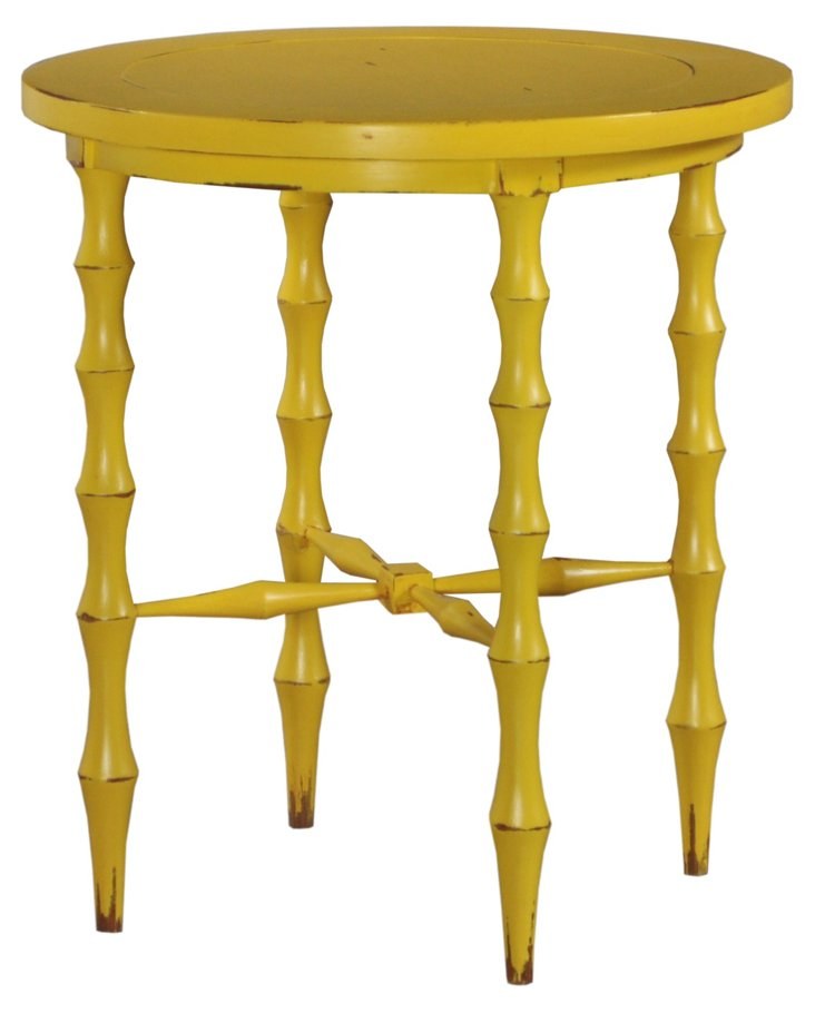 Horn Round Table, Weathered Yellow