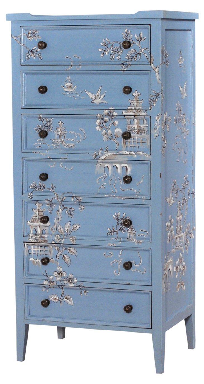 Tall Pimlico Dresser, Blue