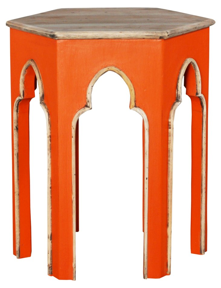 Souk End Table, Orange