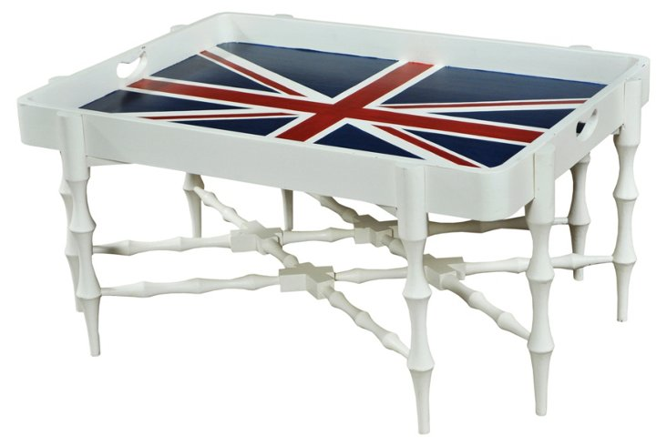 Horn Tray Table, Union Jack