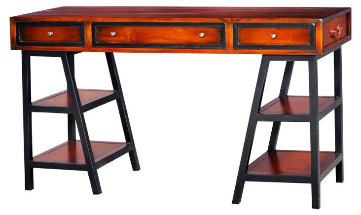 Discovery Desk, Mahogany/Black