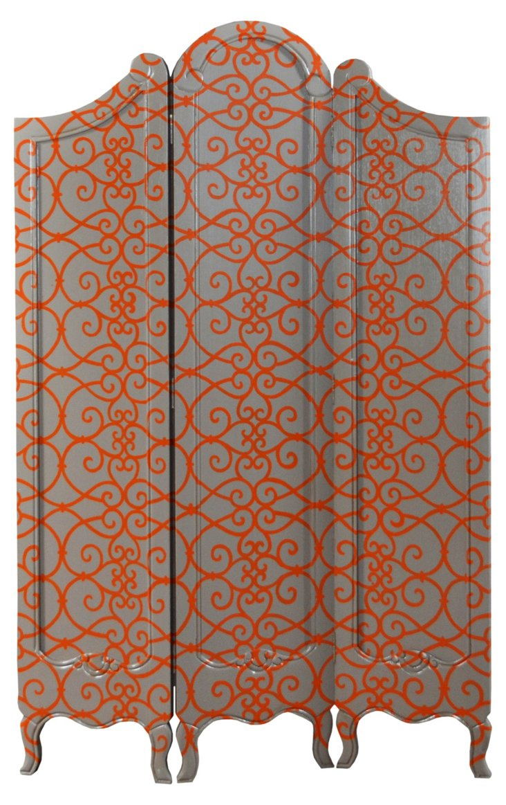 Monte Carlo 3-Panel Screen, Orange