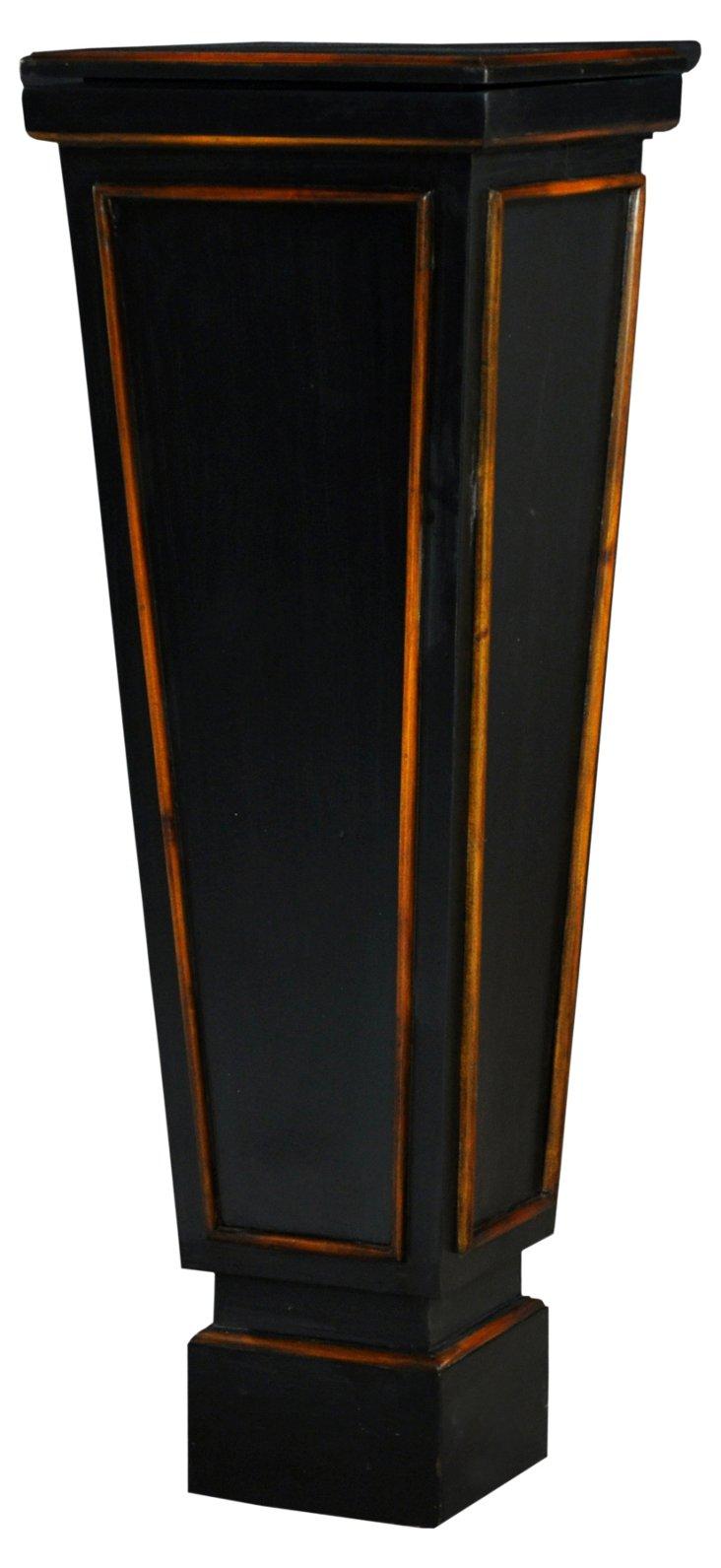 Cantitoe Pedestal, Weathered Black