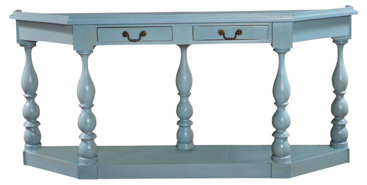Lyceum Console Table, Blue