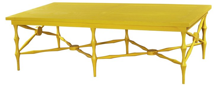 Horn Coffee Table, Yellow