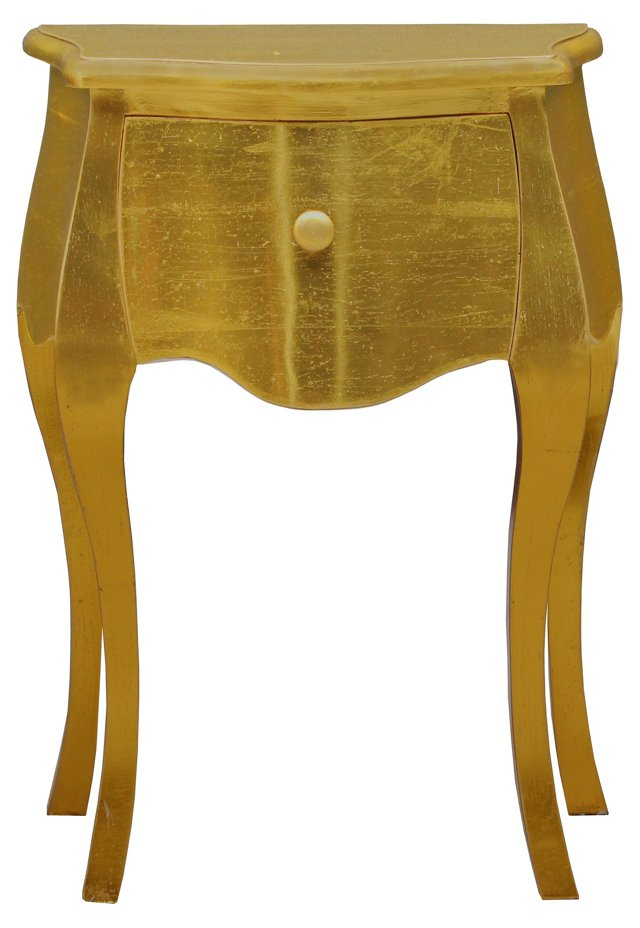 Nancy Side Table, Weathered Gold