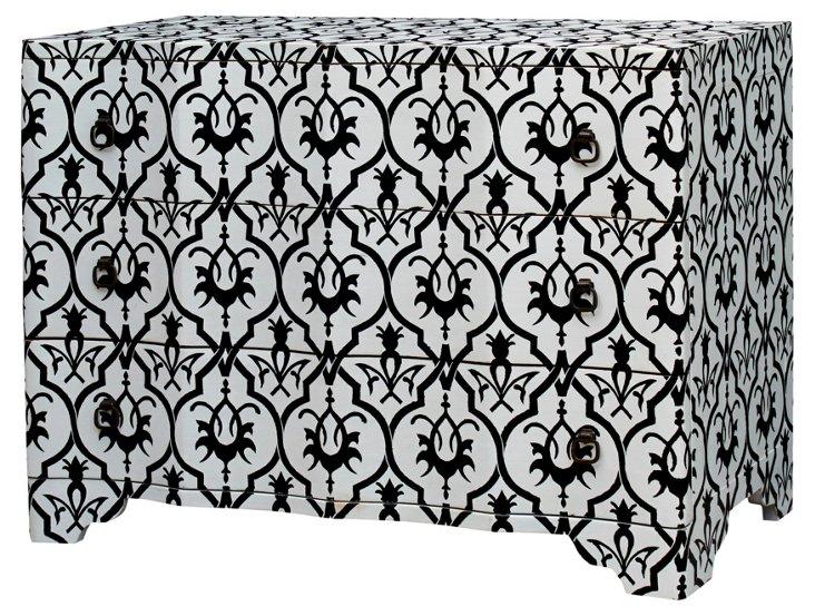 Piaf Dresser, Black/Ivory