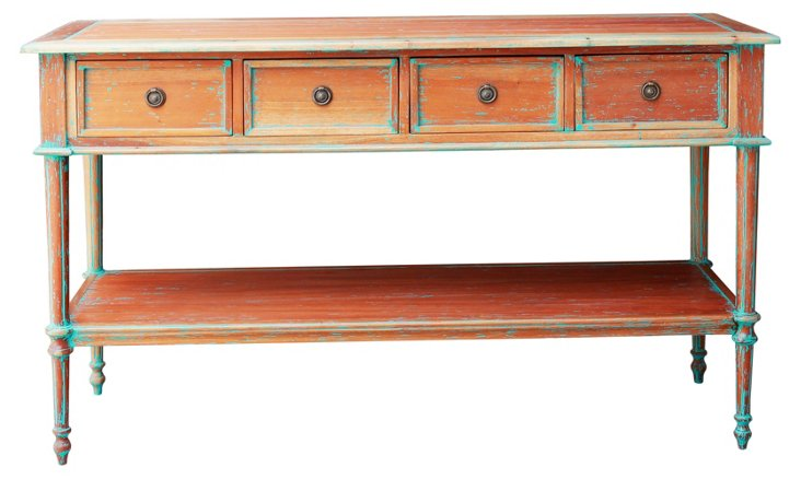 Ramille Console, Distressed Natural