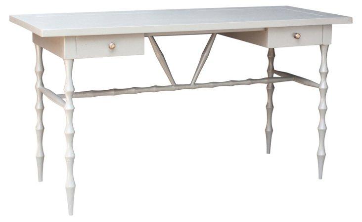 Horn Desk, Ivory/Silver