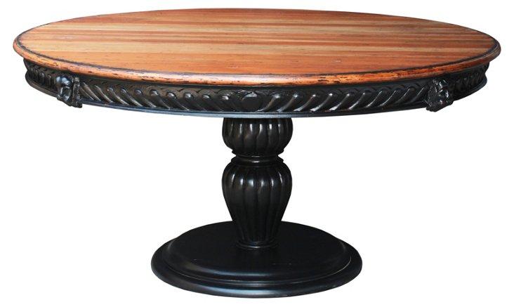 Lindsay Dining Table, Honey/Black