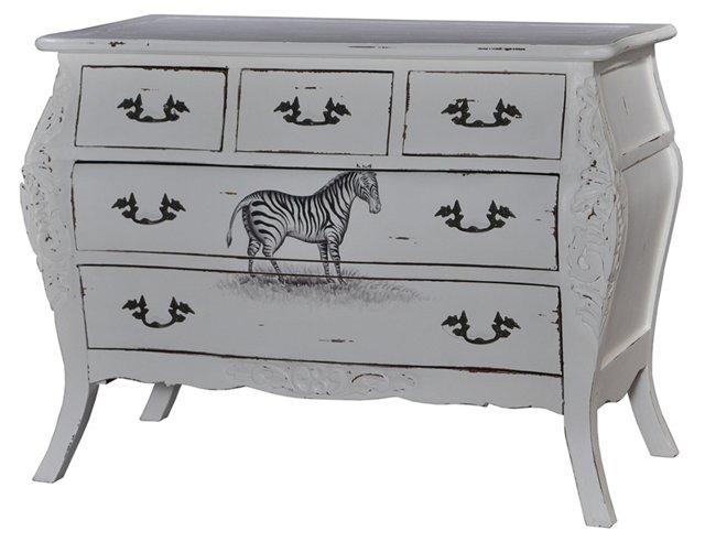 Benson Dresser, Gray/Black