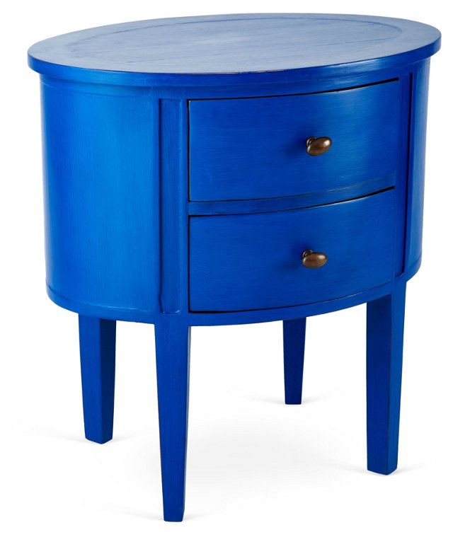Lily Nightstand, Cobalt Blue