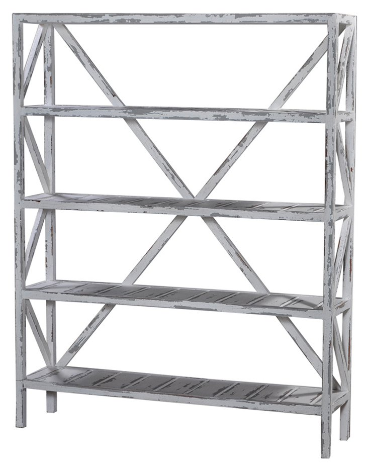 Jemima Bookshelf, Distressed Gray