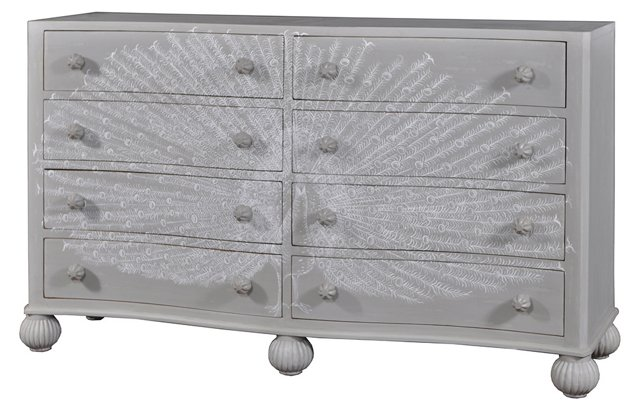 Talley Dresser, Gray/White
