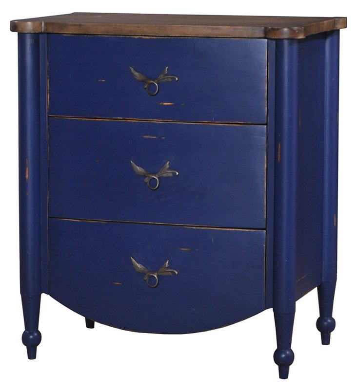 Betty Side Table, Distressed Blue