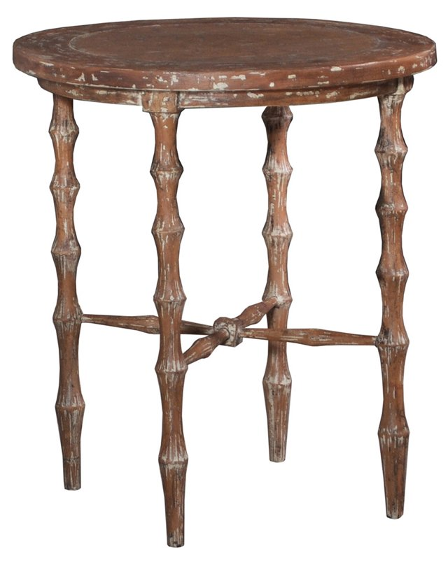 Horn Side Table, Distressed Natural