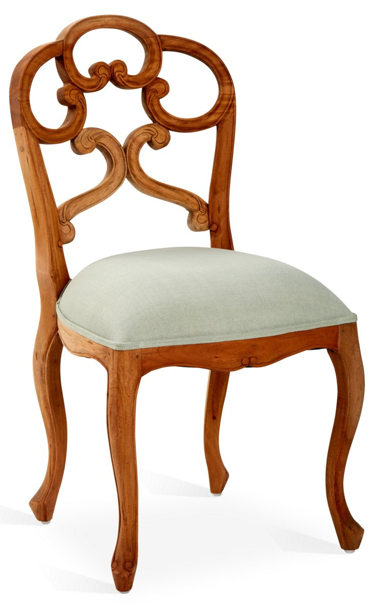 Kate Dining Chair, Natural/Gray
