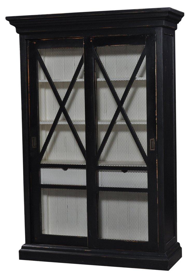 Harper Display Cabinet, Black