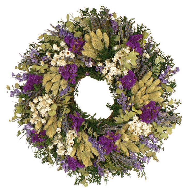 "18"" Lavender Country Wreath, Dried"
