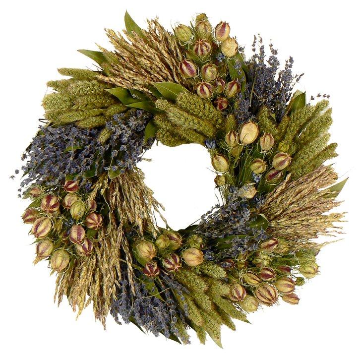 "16"" Organic Vida Wreath"
