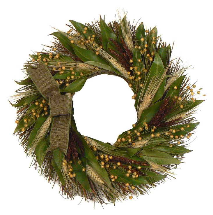 """16"""" Harvest Delight Wreath, Dried"""