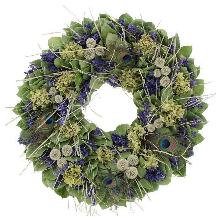22'' Pheasant Wreath, Dried