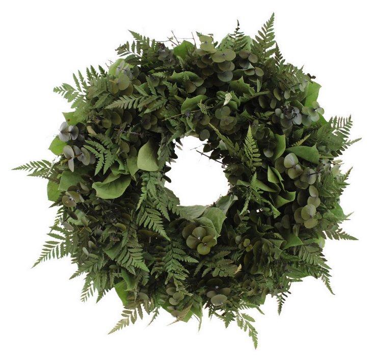 """18"""" Forest Fern Wreath, Dried"""