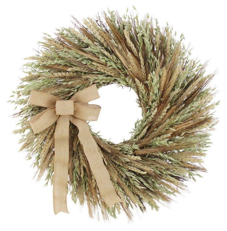 22'' Harvest Glow Wreath, Dried