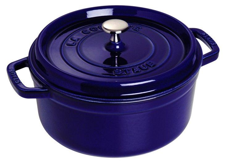 2.75 Qt Round Cocotte, Dark Blue