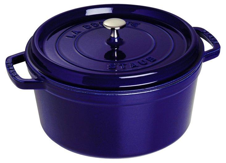 5.5 Qt Round Cocotte, Dark Blue