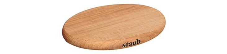 "11.5"" Oval Magnetic Wooden Trivet"