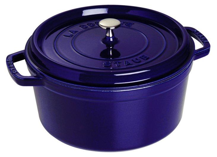 9 Qt Round Cocotte, Dark Blue