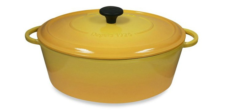 8 Qt Oval Cocotte, Yellow