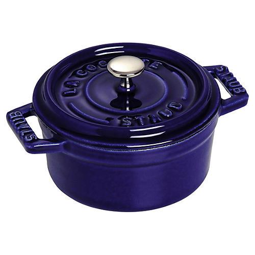 0.25 Qt Mini Round Cocotte, Dark Blue