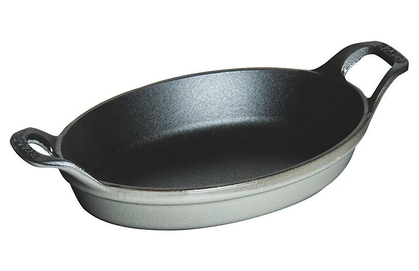 .75 Qt Oval Roasting Dish, Gray