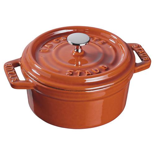 .25 QT Mini Round Cocotte, Orange