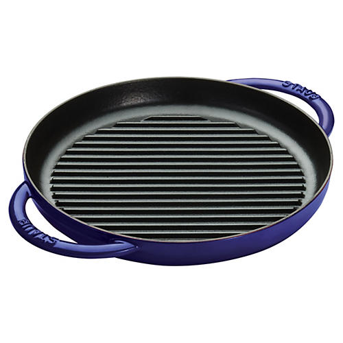 Double Handle Pure Grill, Dark Blue