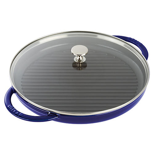 Round Steam Grill, Dark Blue