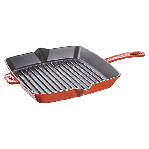 "12"" Square Grill Pan, Burnt Orange"