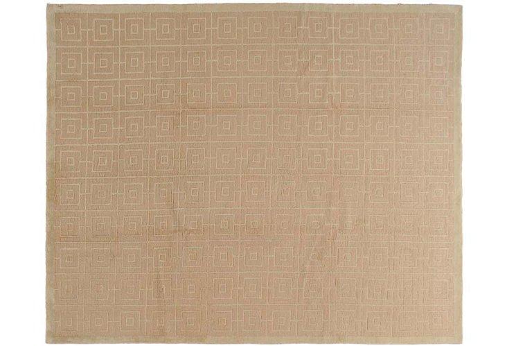 8'x10' Geo Tibetan Rug, Sand