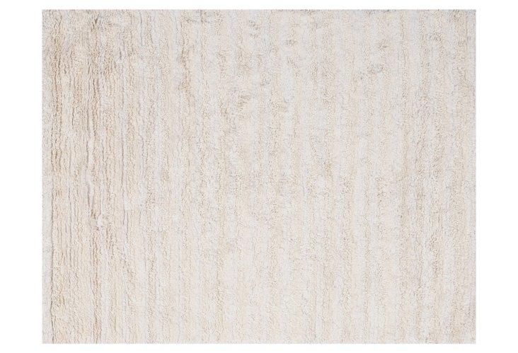 6'x9' Pilar Rug, Cream/White