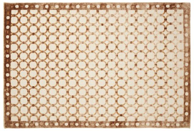 6'x9' Harvest Rug, Brown/Beige