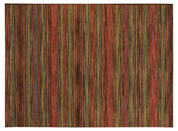 Dana Flat-Weave Rug, Rust/Sage
