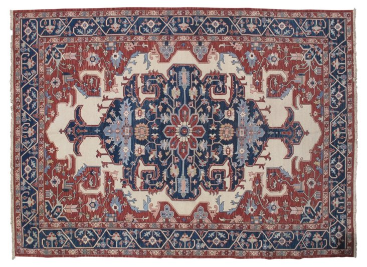 10' x 14' Nina Rug, Red/Cream/Blue