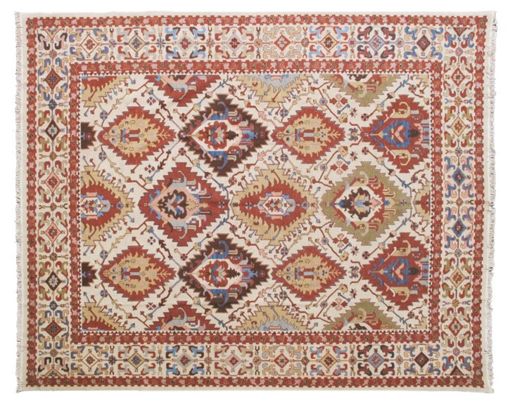 12'x15' Abel Rug, Wheat/Red Clay/Multi