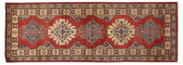 "2'4""x6'10"" Helena Runner, Blue/Red/Multi"
