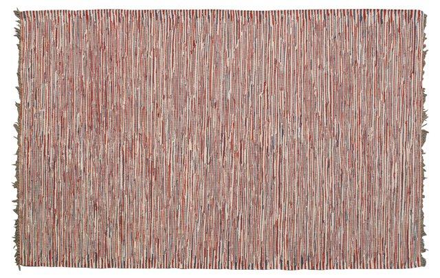 Emily Flat-Weave Rug, Brick/Tan