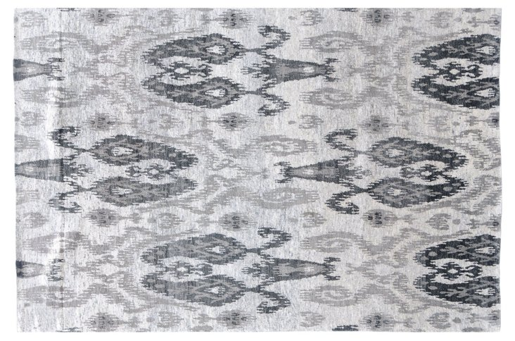 6'x9' Rouen Rug, Gray/Silver