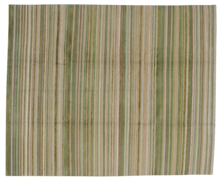 8'x10' Lily Rug, Green/Multi