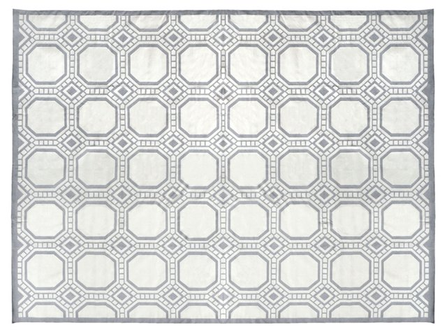 Andover Flat-Weave Rug, Gray